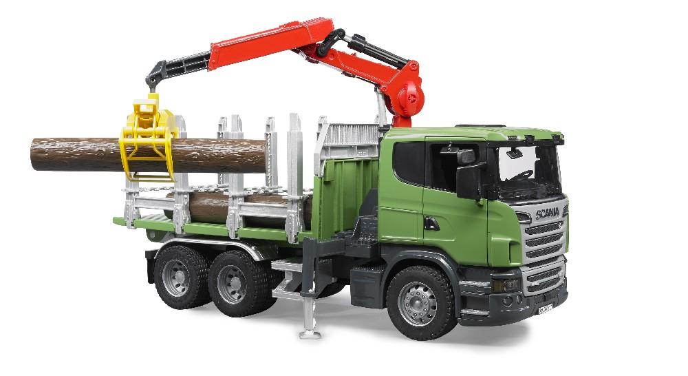 Camion forestier Scania cu macara
