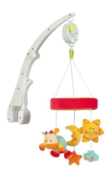 Carusel muzical pentru pat Soarele si luna Brevi Soft Toys