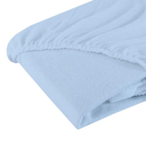Cearsaf cu elastic din bumbac bleu 12060 cm