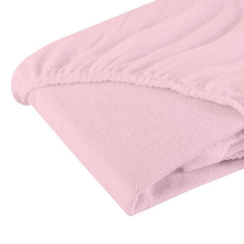 Cearsaf cu elastic din bumbac roz 12060 cm