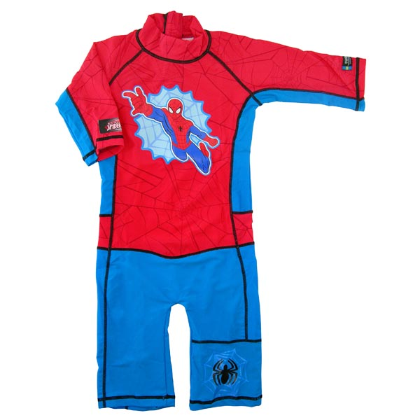 Costum de baie Spiderman marime 98-104 protectie UV Swimpy
