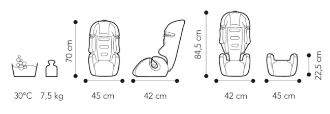 Fotoliu auto 9-36 kg Brevi Tao 067
