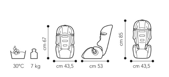 Fotoliu auto copii 9 - 36 kg Tao B.Fix