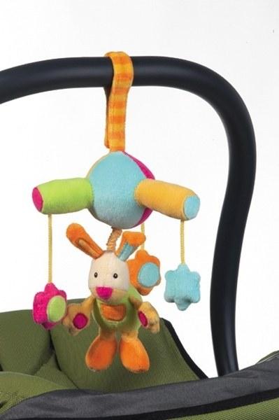 Minicarusel pentru masina cu iepuras Brevi Soft Toys