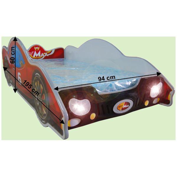 Patut in forma de masina MiniMax Albastru