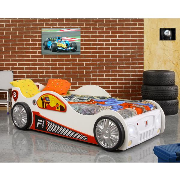Patut in forma de masina Monza Alb