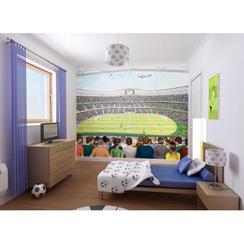 Tapet pentru Copii Football Crazy Mural din categoria Camera copilului de la Walltastic