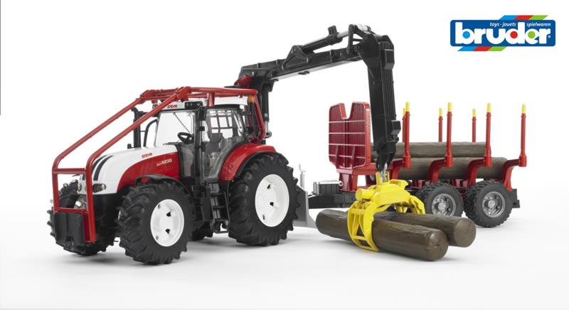 Tractor forestier steyr ctv 6230 cu remorca si 4 busteni