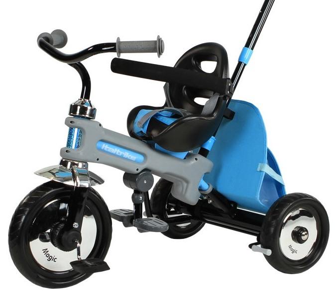 Tricicleta Cu Maner Italtrike Azzuro Albastra