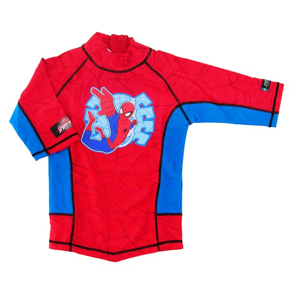 Tricou de baie Spiderman marime 110-116 protectie UV Swimpy