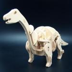Dinozaur Apatosaurus - Puzzle 3D din lemn