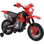 Motocicleta electrica 6V cu roti ajutatoare Rosie