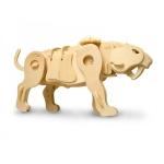 Saber Tooth-Head - Puzzle 3D din lemn