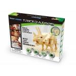 Triceratops - Puzzle 3D din lemn
