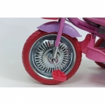 Tricicleta copii Dhs cu roti de metal Merry Ride Roz