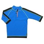 Tricou de baie blue black marimea 104- 116 protectie UV Swimpy