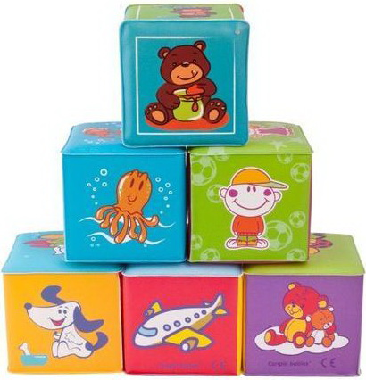 Set cuburi educative 6 buc