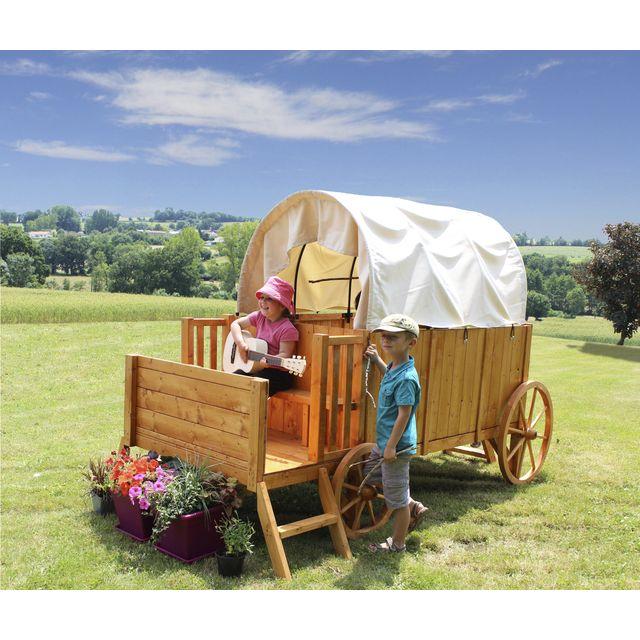 Casuta din lemn Chariot de JESSY