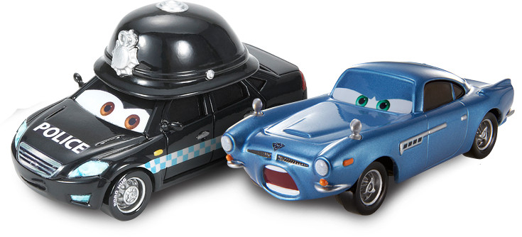 Disney Cars 2 Doug Speedcheck si Finn McMissile
