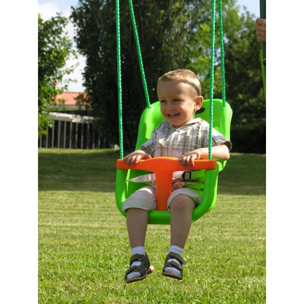 Leagan bebe Soulet - Baby seat adjustable apple green