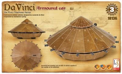 Macheta de construit Masina blindata Leonardo Da Vinci