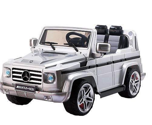 Masinuta electrica Mercedes G55 AMG SUV cu telecomanda Silver