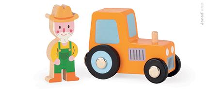 Set povestea mea - Ferma vesela - tractor  fermier (J08570)