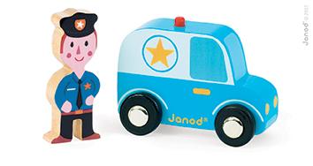 Set povestea mea - Orasul - masina de politie  politist (J08564)