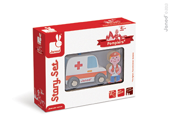 Set povestea mea - Pompieri - ambulanta medic (J08567)
