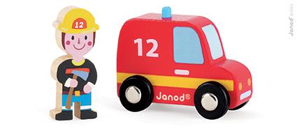Set povestea mea - Pompieri - masina de pompieri  pompier (J08568)