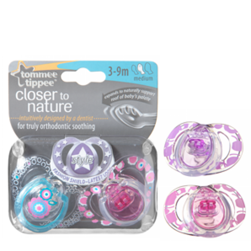 Suzete Style 3 - 9 luni x 2 buc Tommee Tippee