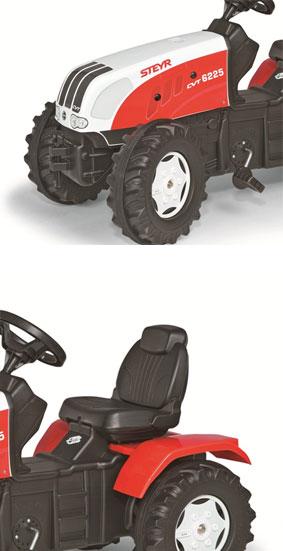 Tractor cu pedale Rolly Toys Steyer CVT cu cupa imagine