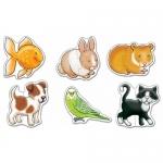 Set 6 puzzle - Animale de companie (2 piese)