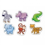 Set 6 puzzle - Animale salbatice (2 piese)