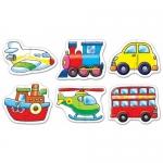 Set 6 puzzle - Mijloace de transport (2 piese)