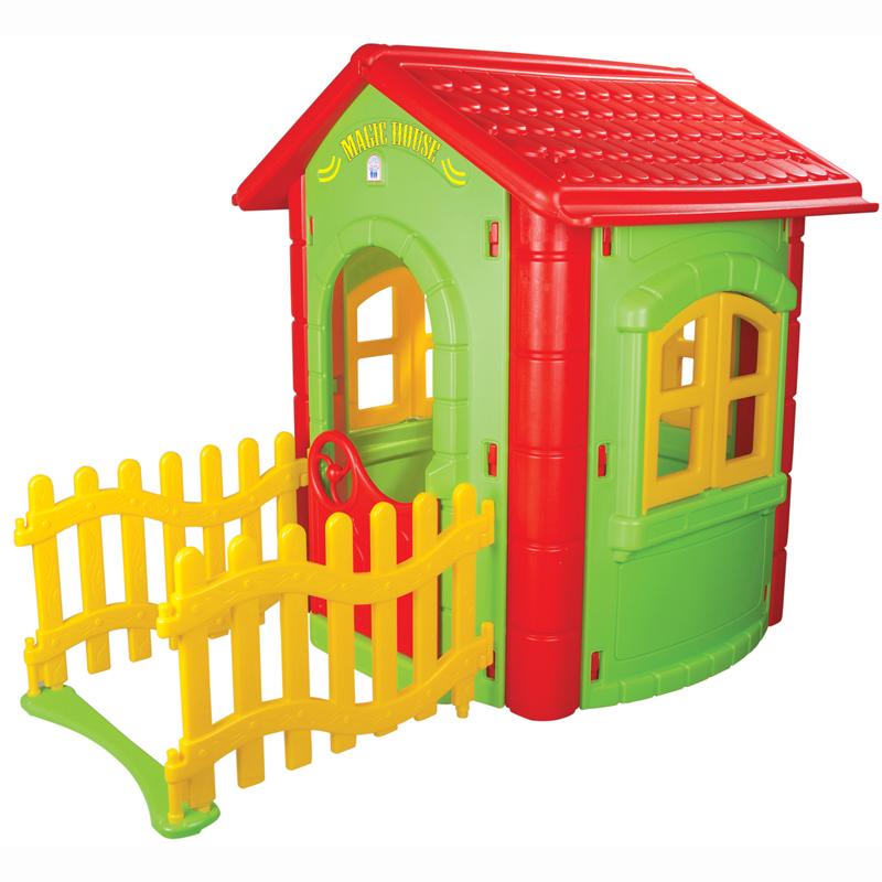 Casuta cu gardulet pentru copii