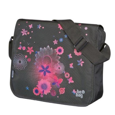 Geanta de umar Messenger Be Bag Pink Butterflies Herlitz