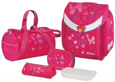 Ghiozdan echipat Flexi Plus Pink Butterfly Herlitz