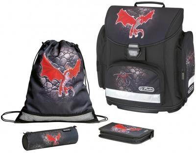 Ghiozdan echipat Midi Plus Red Dragon Herlitz