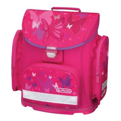 Ghiozdan neechipat Midi Pink Butterfly Herlitz