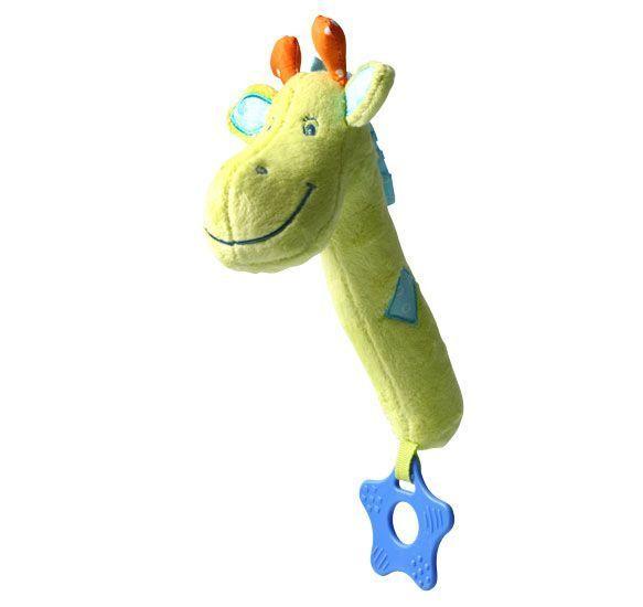 Jucarie chitaitoare cu inel gingival Girafa