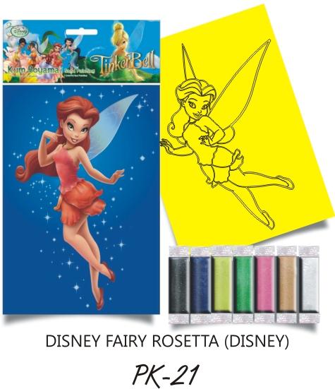 Plansa pictura nisip S Clopotica Disney