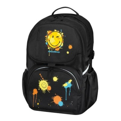 Rucsac Be.Bag Cube Smiley World Black Edition Herlitz