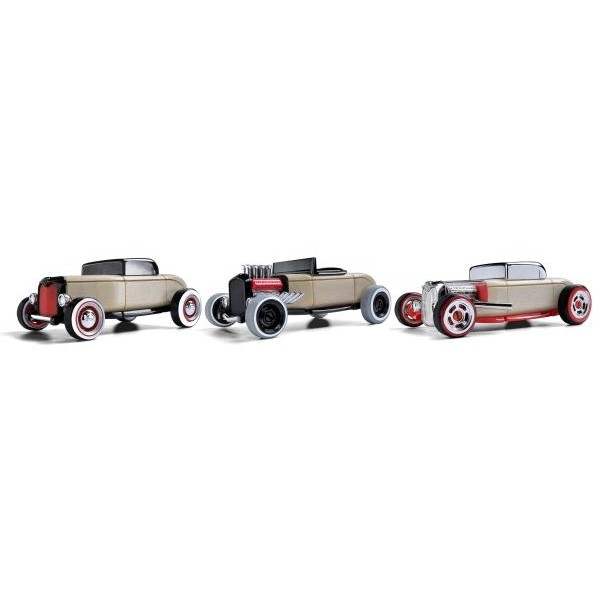 Set 3 masinute Mini Hot Rod