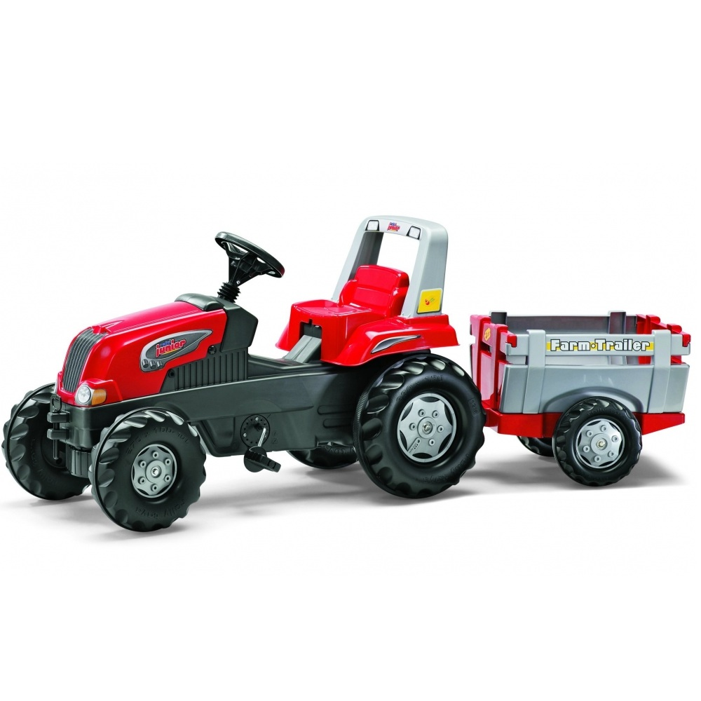 Tractor cu pedale Rolly Junior cu remorca