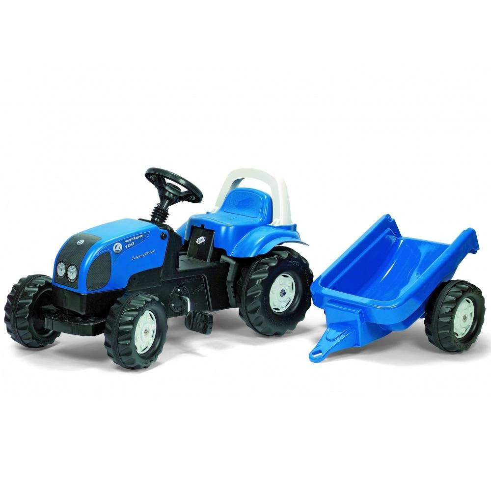 Tractor cu pedale Rolly Toys Kid Landini cu remorca
