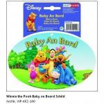 Baby la bord - Stiker cu ventuza Winnie the Pooh