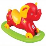 Balansoar elefant 2 in 1 cu roti Rosu