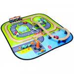 Circuit din lemn cu trenulet si masinute Giant City