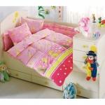 Lenjerie de pat pentru bebelusi 8 piese Mak Mak Roz